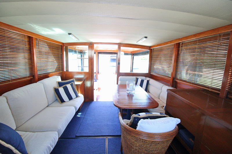 Saloon (facing aft)